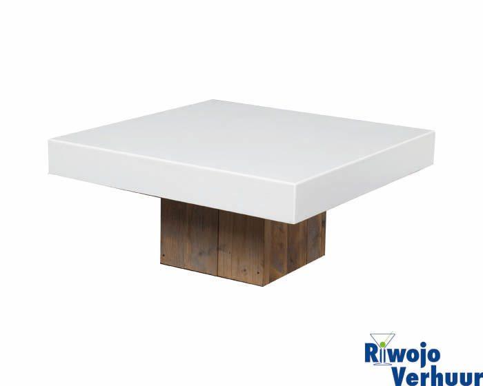 Salontafel Steigerhout 80x80.Salontafel Luxe Steigerhout Met Wit Blad 80x80 Cm Riwojo Verhuur