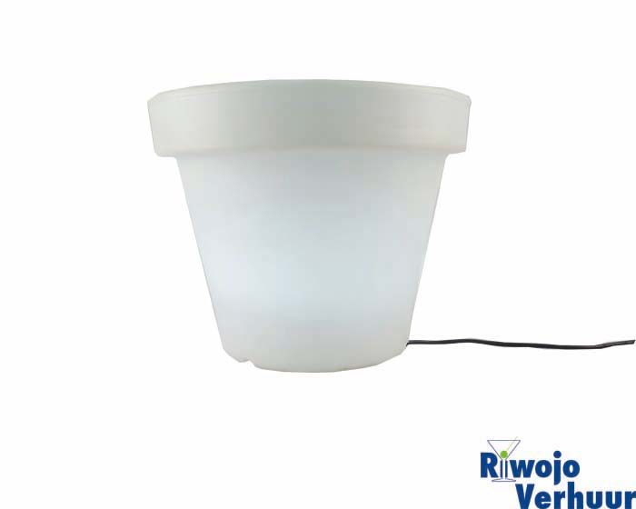 bloempot wit verlicht led groot